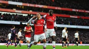 Podolski et Sanogo ont trouvé la solution pour qualifier Arsenal au tour précédent